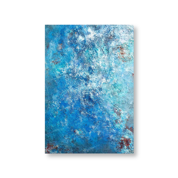 Oceanic (50x70) - Mixed media painted by Mary Made