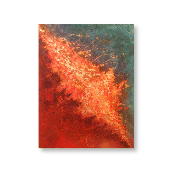 Fire and Ice (50x70) - Mixed media painted by Mary Made