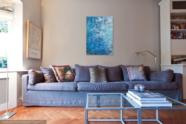 Oceanic (50x70) - In situ - Mixed media painted by Mary Made