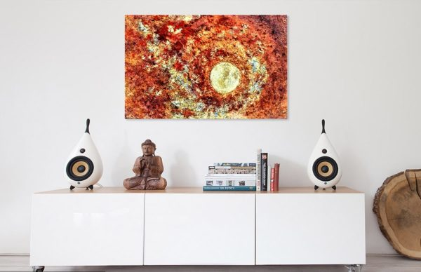 Symbiotic Osmosis (100x70) - In situ - Mixed media painted by Mary Made